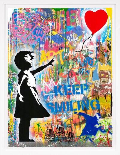 Mr. Brainwash, 'Balloon Girl (Unique)', 2021
