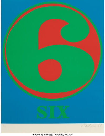 Robert Indiana, 'Six', 1968