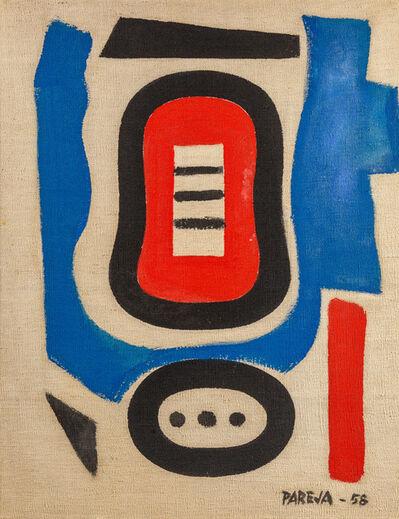 Miguel Ángel Pareja, 'Formas en Azul, Rojo, Negro y Blanco ', 1958
