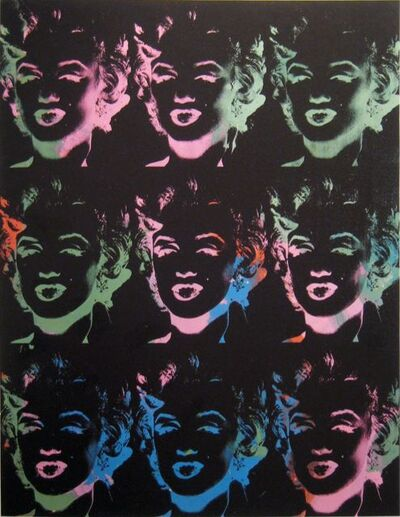 Andy Warhol, 'Nine Multicolored Marilyns', 1979-1986