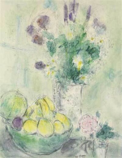 Marc Chagall, 'Flowers and fruit basket', 1949