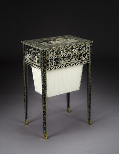 English, 'Penwork Work Table in the Regency Taste', ca. 1800