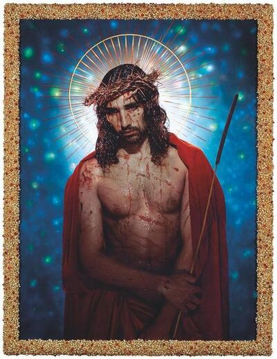 Pierre et Gilles, 'Le Christ aux outrages (Willy Cartier)', 2018