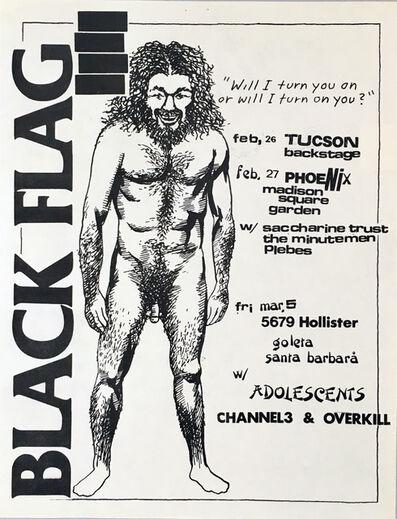 Raymond Pettibon, 'Raymond Pettibon Black Flag flyer (early Raymond Pettibon)', 1982