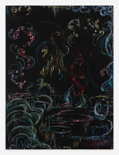 Kysa Johnson, 'blow up 381 - Crude (metamorphosis) - phytoplankton and chemical components of petroleum after Monet', 2019