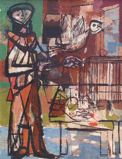 Jankel Adler, 'Bird and Cage ', ca. 1948