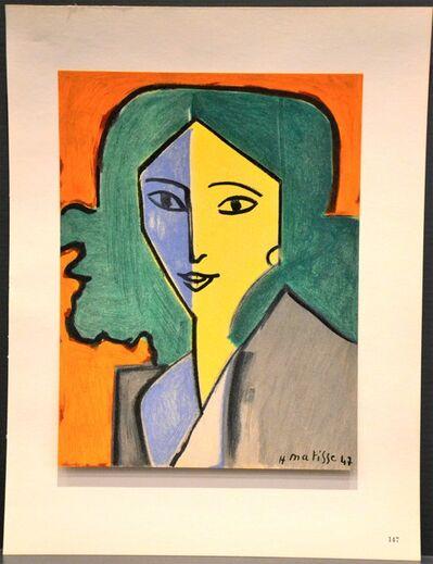 (after) Henri Matisse, 'Portrait bleu, vert et jaune', 1954