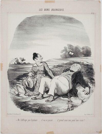 Honoré Daumier, 'Les Bons Bourgeois: Ne l'effraye pas Eudoxie...', 1846