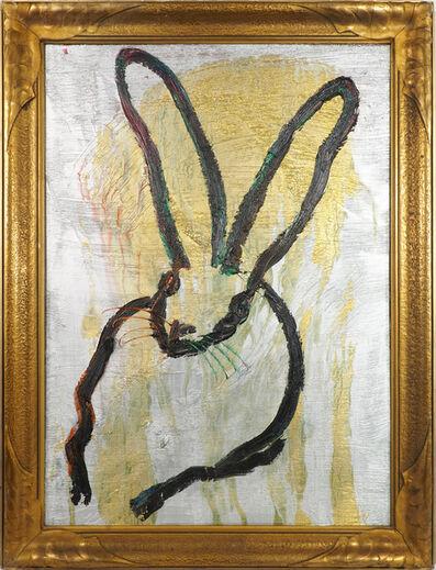 Hunt Slonem, 'Hunt Slonem Signed Original Gold Bunny Painting', 2017