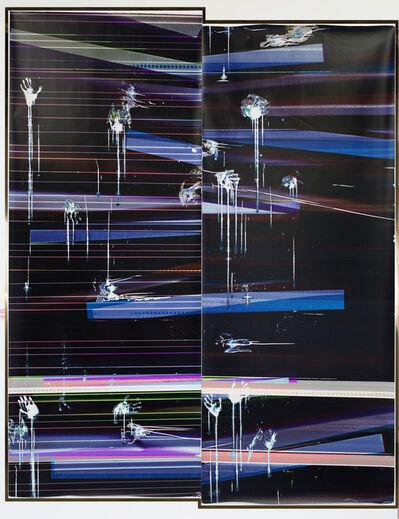 Walead Beshty, 'Cross Contaminated RA4 Contact Print [Black Curl (MYC/Six Magnet: Los Angeles, California, March 17, 2016, Kodak Professional Ultra Endura N, EM. NO. 112-006, Kodak Ektacolor RA Bleach-Fix and Replenisher, 04716), Kreonite KM IV 5225 RA4 Color Processor, Ser. No. 00092174]', 2016