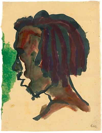Emil Nolde, 'Kopf eines Südsee-insulaners ', 1913