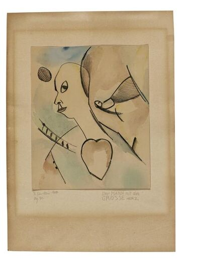 Kurt Schwitters, 'Der Mann mit das Grosse Herz (The man with the big heart)', 1919