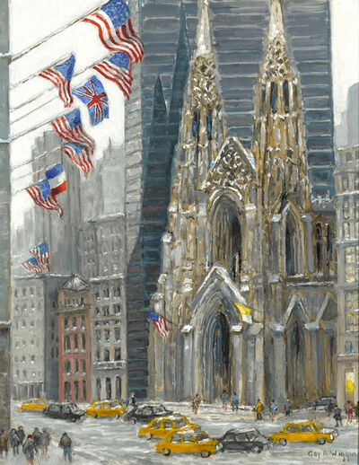 Guy Arthur Wiggins, 'St. Patrick's Cathedral in Winter', Late 20th Century