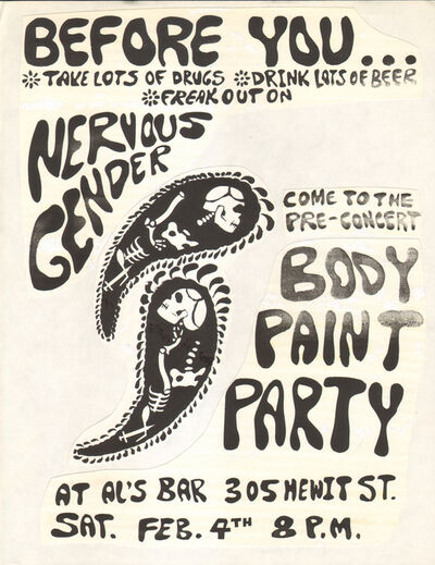 Gerardo Velázquez, 'Untitled Nervous Gender Gig Flyer #20'