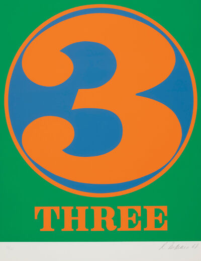 Robert Indiana, 'Three, from Numbers', 1968
