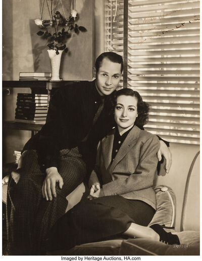 George Hurrell, 'Portrait of Joan Crawford and Franchot Tone', circa 1930s
