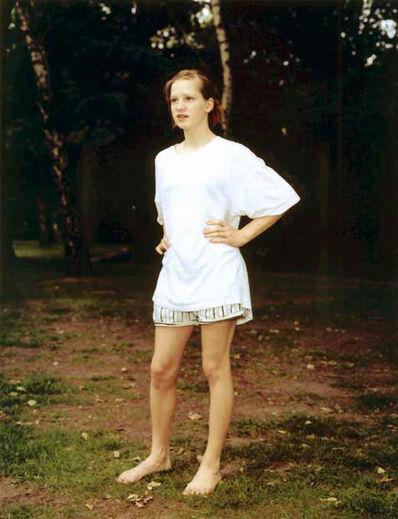 Rineke Dijkstra, 'Tiergarten, Berlin, Germany, June 7, 1998 D (Girl in White Shirt)', 1998