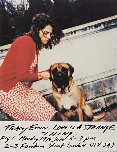 "Tracey Emin, 'TRACEY EMIN ""LOVE IS A STARNGE THING"" SIGNED & NUMBERED', 2000"