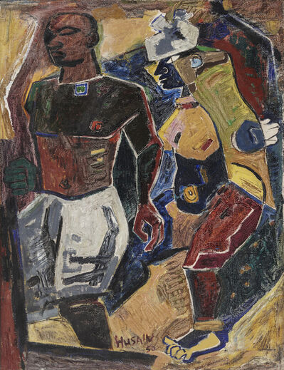 M. F. Husain, 'Peasant Couple', 1950