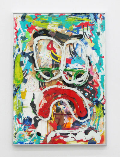 """Devin Troy Strother, 'The Phase Of Figuration Part 1 """"Do You Have To Look Like A Sad Clown Every Day?""""', 2018"""