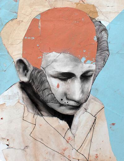 Paul Cristina, 'Portrait Study in Orange no.1', 2017