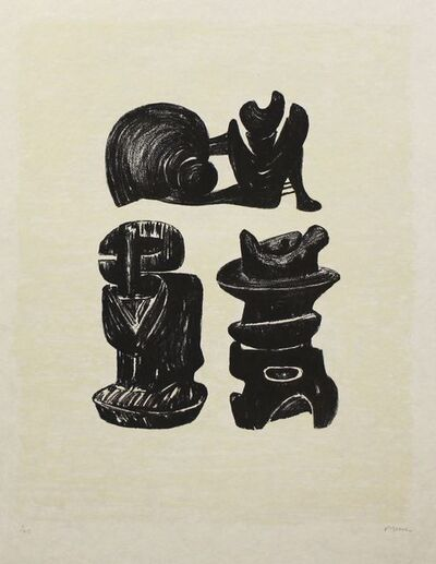 Henry Moore, 'Three Sculptural Forms, from La Poésie [Cramer 320]', 1973