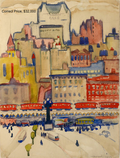 William Zorach, 'Quebec City,  Fauve Landscape', 1913
