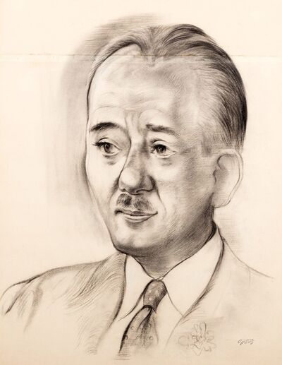 George Grosz, 'Portrait of Wolfram Ertinger', 1938