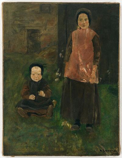 Max Liebermann, 'Zwei holländische Mädchen', ca. 1882