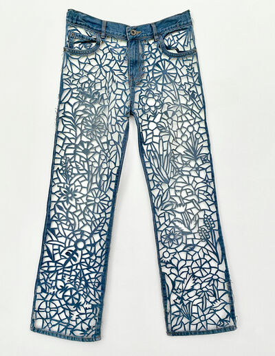 Libby Newell, 'Meticulously Distressed Denim Jeans, Life', 2021