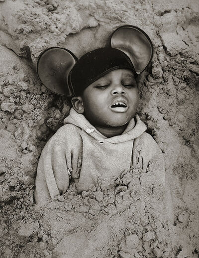 Arthur Tress, 'Boy in Mickey Mouse Hat, Coney Island, New York', 1968