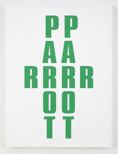 Kay Rosen, 'Parrot', 2013