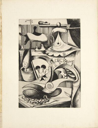 Kurt Seligmann, 'L'Opere (the Patient), Les vagabondages héraldiques', 1934