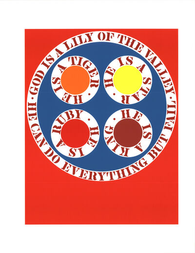 Robert Indiana, 'God Is Lily of the Valley', 1997