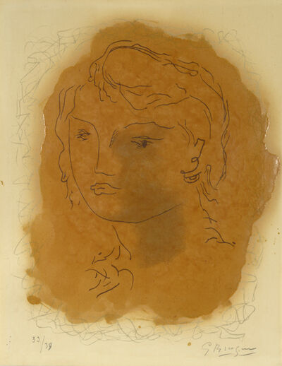 Georges Braque, 'Tête de Jeune Fille. Head of a Girl.', 1951