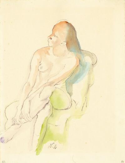 Franz Nölken, 'Sitzender Weiblicher Akt (Seated Female Nude) ', 1916