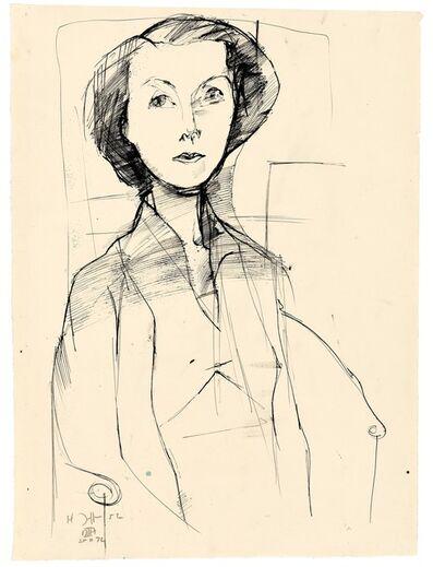 Horst Janssen, 'Gabriele Dessauer', 1952