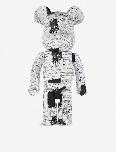 BE@RBRICK, 'BE@RBRICK JEAN-MICHEL BASQUAIT 1000% BLACK/WHITE', 2019