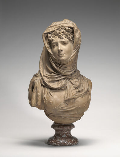 Albert-Ernest Carrier-Belleuse, 'Fantasy Bust of a Veiled Woman (Marguerite Bellanger?)', ca. 1865/1870