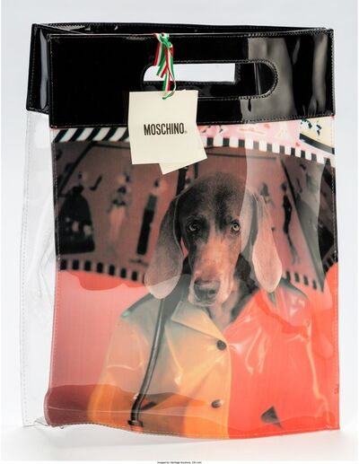 William Wegman, 'Moschino Limited Edition Black & Multicolor Vinyl Weimaraner Tote Bag', 2000