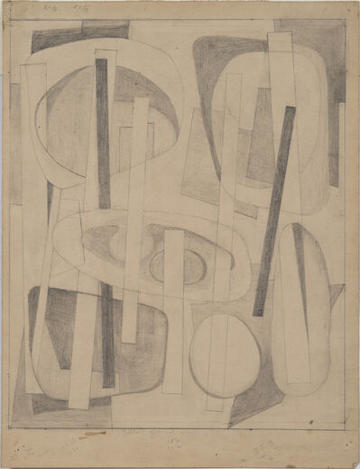 "Alice Trumbull Mason, 'Drawing for ""Bearings Charted in Yellow""', ca. 1946"