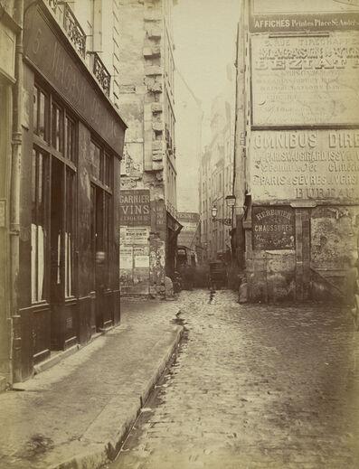 Charles Marville, 'Rue Tirechappe, vue prise de la rue Saint-Honor'', 1860-1870