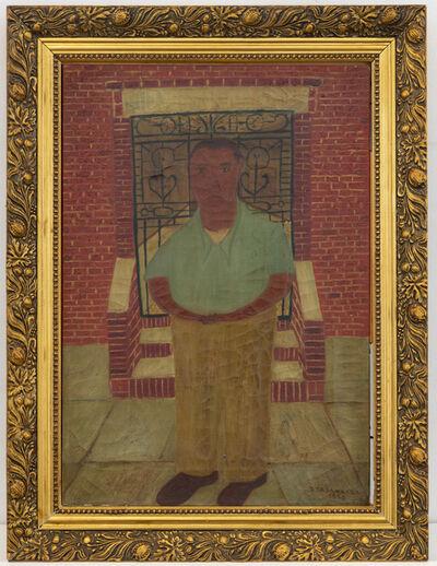 Ralph Fasanella, 'Man in Doorway (Self-Portrait)', 1950