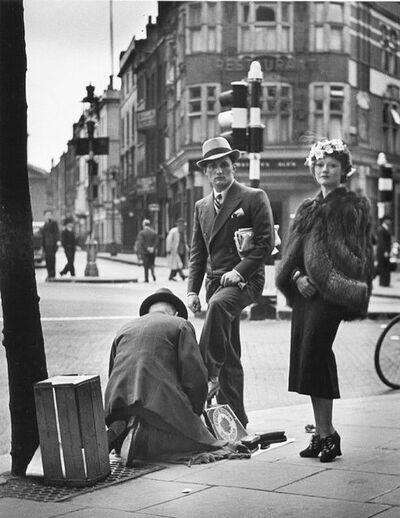 Wolfgang Suschitzky, 'Shoe Shine, Charing Cross Road, London', 1936