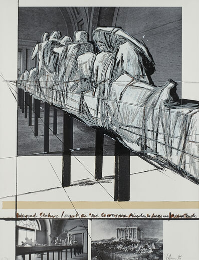 Christo, 'Wrapped Statues, the Glyptothek, Munich', 1988