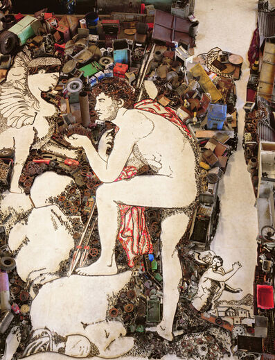Vik Muniz, 'Oedipus and Sphinx, after Jean Auguste Dominique Ingres (Pictures of Junk)', 2006