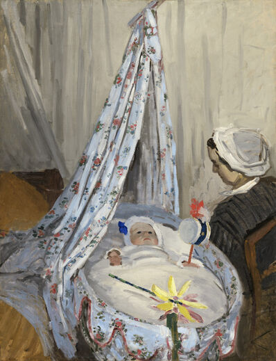 Claude Monet, 'The Cradle - Camille with the Artist's Son Jean', 1867