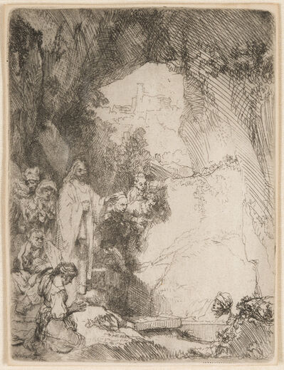 Rembrandt van Rijn, 'The Raising of Lazarus. Small Plate', 1642