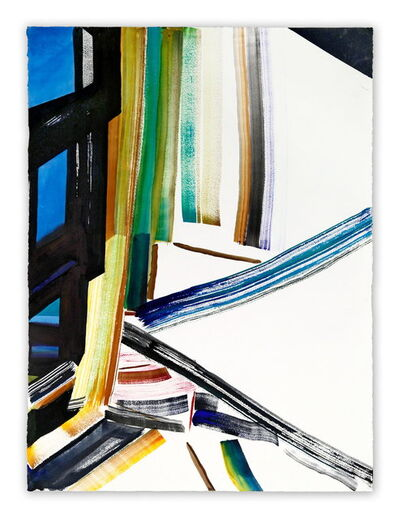 Laura Newman, 'Drybrush with building', 2014