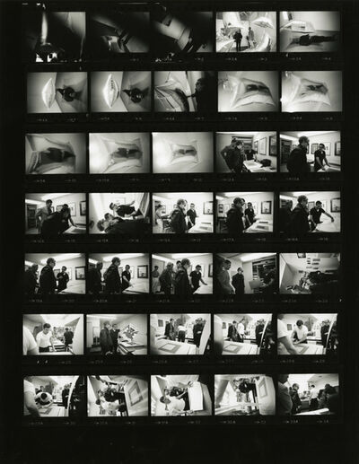 Steve Schapiro, 'Andy Warhol, Castelli Gallery, New York (Contact Sheet)', 1965